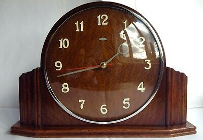 Metamec Clock Art Deco With Smooth Sweep Secondhand 1950s Vintage Retro