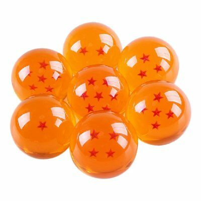 Dragon Ball Z Stars Ball 7pcs SET Crystal 7.6cm DBZ Cosplay goku Japan anime NEW