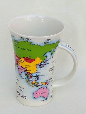 Map of the World Mug by Dunoon Jackie Reynolds Design