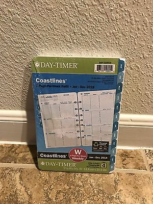 Day-Timer Coastlines 2018 Planner Refill 2 Pages Per Week Size 4 Ocean Waves