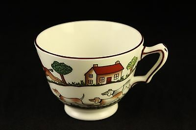Wedgwood Style Crown Staffordshire Tea-Cup Hunting Scene Bone China England