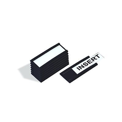 MasterVision FM1310 Magnetic Data Card Holders, 1 x 2 Inches, Black, Pack of ...