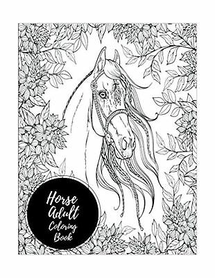 Horse Adult Coloring Book Large Stress Relieving Relaxing For