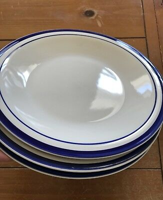 VINTAGE GIBSON EVERYDAY China Blue Stripe/ Rings Dinner Plates 10 3 ...
