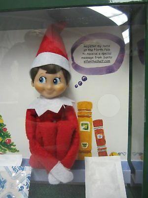 SHIPS FAST The Elf on the Shelf  A Christmas Tradition Blue-Eyed Boy and Book