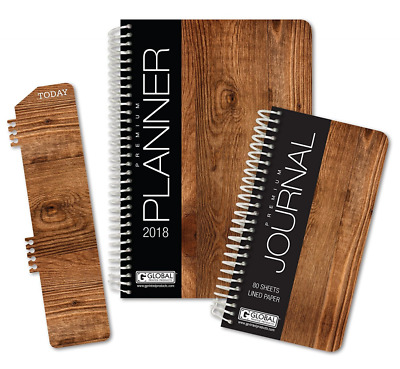 Best Planner 2018 Agenda for Productivity, Durability and Style. 5x8 Daily Plann