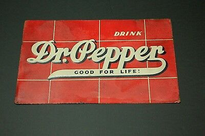Vintage 1930s DR PEPPER embossed metal sign coke grocery gas ROBERTSON SIGN