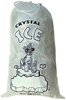 20 LB LBS Commercial Ice Bags Bag w/ Drawstring 5/10/25/35/50/100/...300/400/500