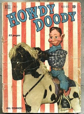 Howdy Doody #5-1950 Dilly Dally / photo cover/ tv series...gd