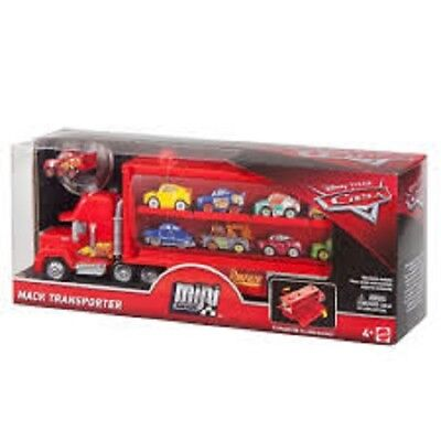 Disney Pixar Cars Mack Micro Mini Racer Transporter Store 15+ cars 1 vehicle inc