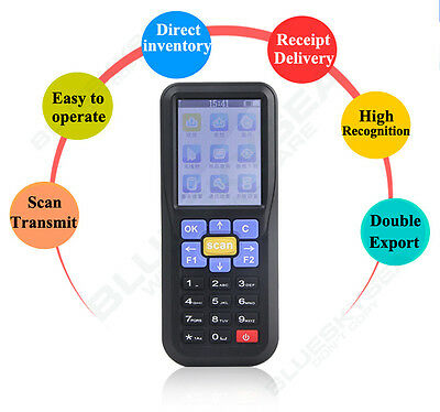 "NTEUMM 2.4"" LCD 433Mhz Wireless Barcode Data Collector Inventory Scanner Reader"