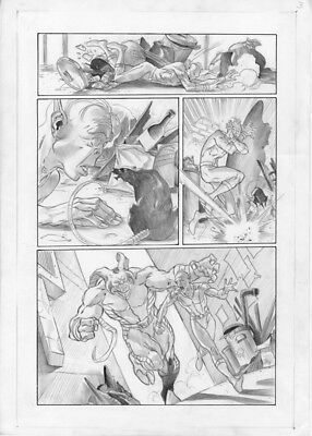 Marvel Captain Marvel (2002) # 10 page 2 Original Art Ivan Reis