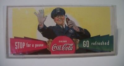 "1938 VINTAGE COCA COLA Blotter ""Stop for a pause - Go refreshed """