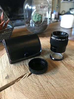 SPI Scale Lupe Loupe 7x Magnifier with Case Japan, New Vintage Late 80's Kodak