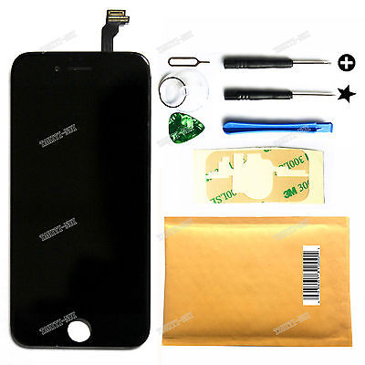 "Black iPhone 6 4.7"" LCD Lens Display Screen Touch Digitizer Assembly Replacement"