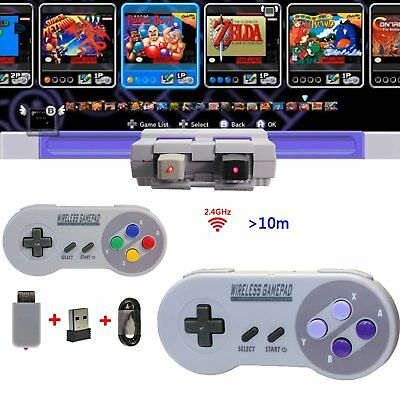 2.4GHZ Wireless Controller Gamepad for NES & SNES Super Nintendo Classic Edition