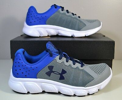 Nib Boys Under Armour Ua Bps Assert 6 Blue Running Training Shoes Sz 13C-3Y