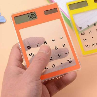 Creative Stationery Candy Slim Solar Energy Touch Clear Scientific Calculator I