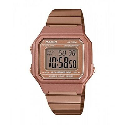 B650WC-5A 6New Casio Vintage Rose Gold Digital Stainless Steel Watch