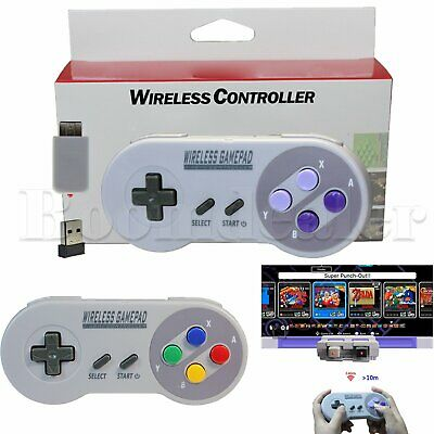 2.4GHZ Wireless Controller Gamepad for Super Nintendo NES &SNES Mini Classic New