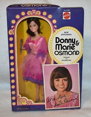 VTG 1976 Mattel MARIE OSMOND Doll Donny and Marie NRFB 12 Mego Action Figure mib