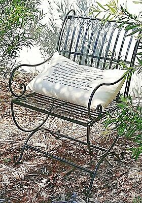 FRENCH garden black CHAIR WROUGHT IRON  QUALITY NEW