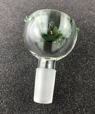 14mm / 18mm Male Clear Glass Slide Bowl With Built In Screen - USA