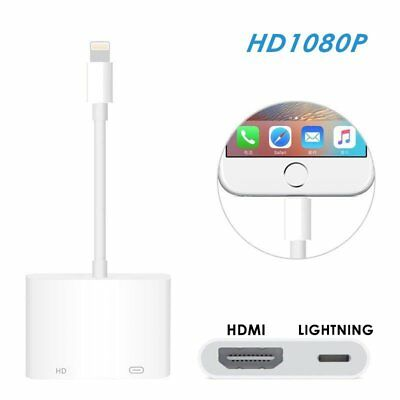 Lightning to HDMI Digital AV TV Cable Adapter For iPhone X 8 7 6S Plus iPad Pro