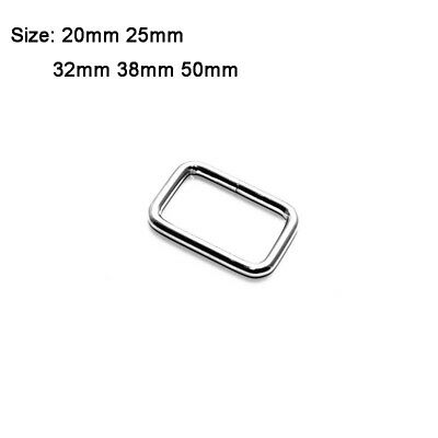 Metal wire Formed Rectangle Ring Loops for Webbing 20mm 25mm 32mm 38mm 50mm