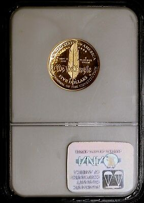 1987 W $5 Constitut Gold Commemorative Coin Ngc Pf 69 Ultra Cameo