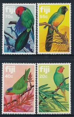 1983 Fiji Parrots Set Of 4 Fine Mint Mnh
