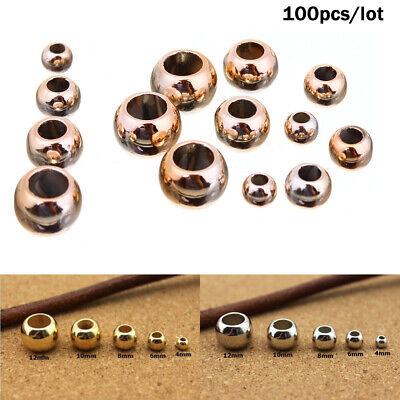 100pcs/lot 4/6/8/10/12mm Dia Gold CCB Spacer Beads Jewelry DIY Making Findings