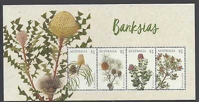 Australia 2018 Banksias Mini Sheet Stamp Set