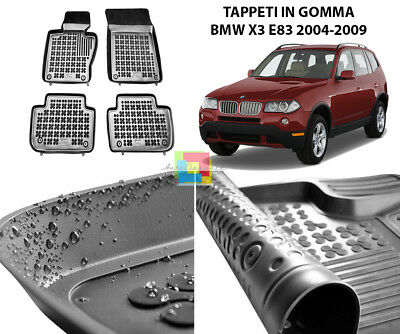 Tappeti A Vasca Bmw X3 E83 2004-2009 Tappetini Auto In Gomma -1.
