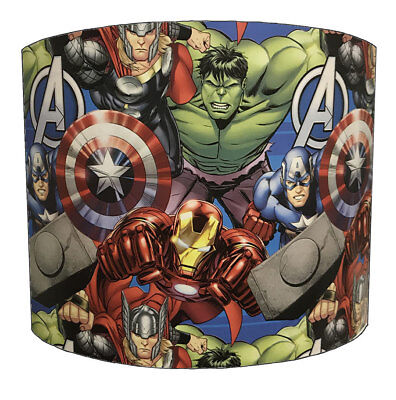 Marvel Lampshades, Ideal To Match Marvel Quilts & Marvel Wall Decals & Stickers.