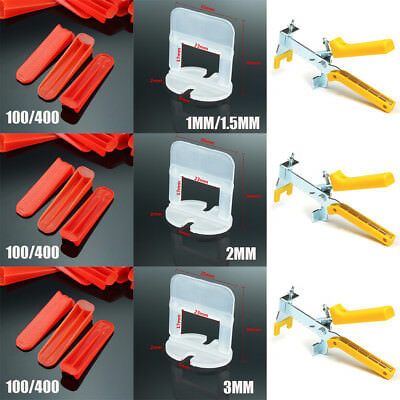 Tile Leveling System Clips & Wedges Plastic Spacers Tiling Tool Flooring Lippage