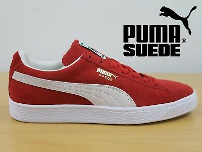 super popular 38f29 7b609 PUMA SUEDE CLASSIC V2 Men's Trainers High Risk Red Leather Sneakers 36574801