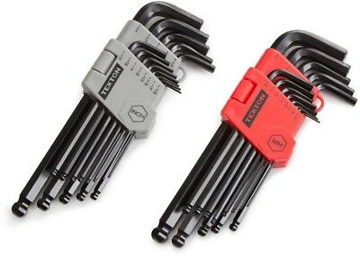 Tekton Metric SAE Long Arm Ball End Allen Hex Key Wrench Set Hand Tools 26 Pack