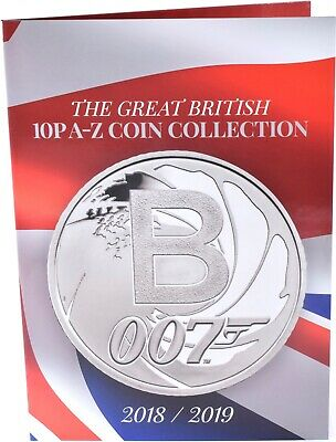 NEW 2019 Great British 10p A - Z Coin Collection Album Collectors Coins