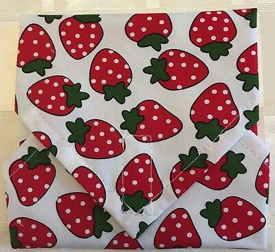 Strawberry 🍓 Sandwich Lunch Snack Bag Wrap ~ Reuseable ~