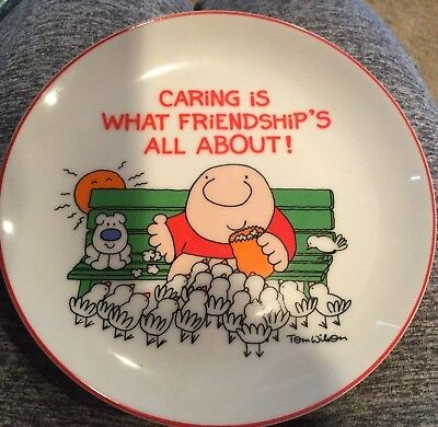"""Ziggy Porcelain Plate Lasting Memories """"caring Is What Friendship's About"""" Nice"""