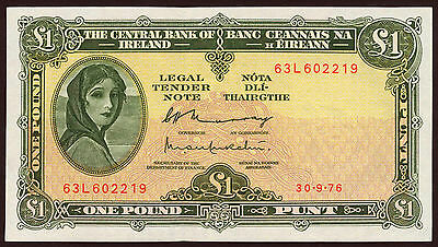 Irland / Ireland 1 Pound 1976 Pick 64d (1/1-)