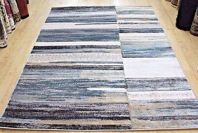 Modern Contemporary Abstract Quality Rug TEAL & GREY  S -M-  Large NOW ON SALE