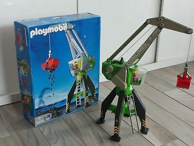 Playmobil 4470 grosser Hafenkran Top Zustand in OVP