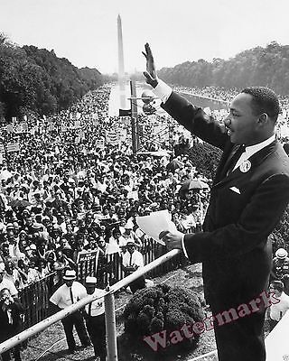 Photograph of Dr. Martin Luther King 1963 March on Washington 11x14