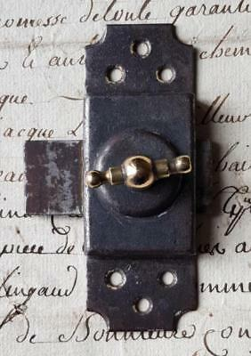 Vintage French Small Industrial Metal Slide Lock Bolt Door Latch Door Hardware