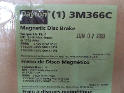 NEW IN BOX DAYTON 3M366C MAGNETIC DISK BRAKE TORQUE: 6 lb.ft