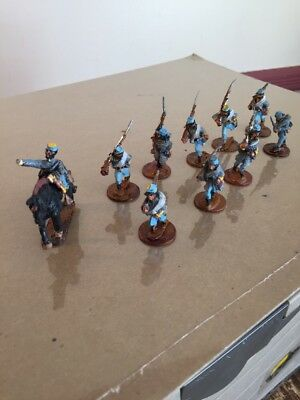25mm Old Glory (10) ACW Confederate Infantry Advancing wargame Figures