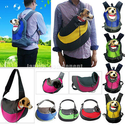 Pet Dog Cat Puppy Carrier Mesh Comfort Travel Tote Shoulder Bag Sling Backpack W