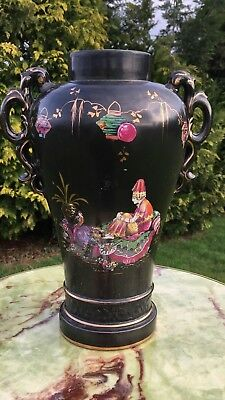 Large Antique Vintage Chinese Oriental Vase 15 inches Tall